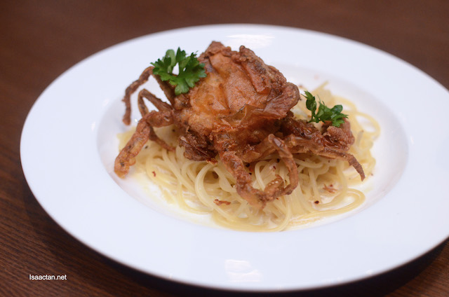 Golden Soft Shell Crab Spaghetti - RM28