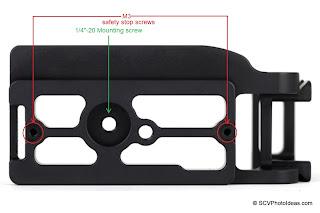 Sunwayfoto PCL-5DIII L Bracket bottom screw positioning