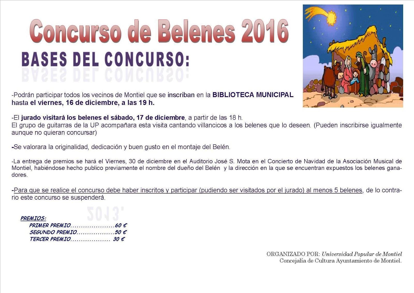 Universidad popular de montiel concurso de belenes 2016 for Concurso de docencia 2016