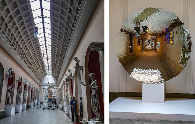 MNBA: galeria de esculturas clássicas e uma sala de exposições refletidas na obra do artista indiano contemporâneo Anish Kapoor