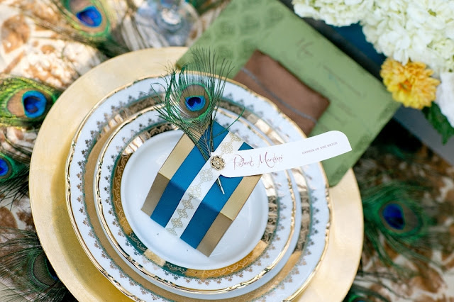 feather+wedding+theme+inspiration+blue+teal+turquoise+beige+champagne+green+reception+table+centerpiece+table+place+setting+escort+card+cards+bouquet+bridesmaids+dresses+bridal+dress+gown+meghan+wiesman+photography+12 - Show your feathers!