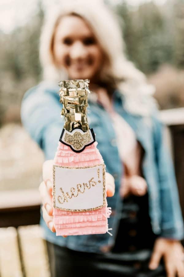 champagne bottle mini pinata
