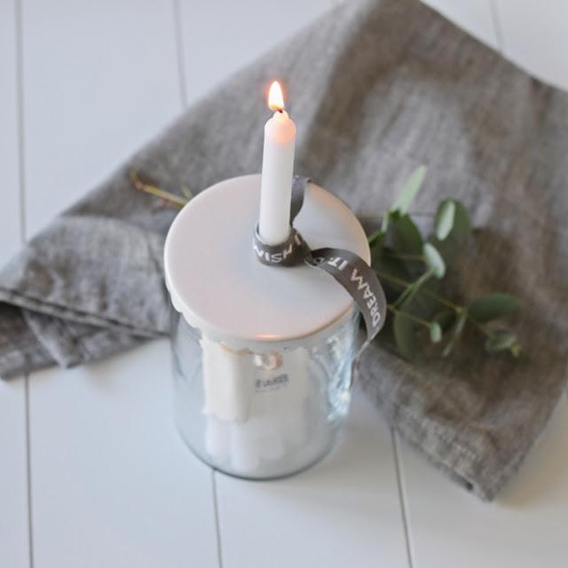 Aufbewahrung für Kerzen