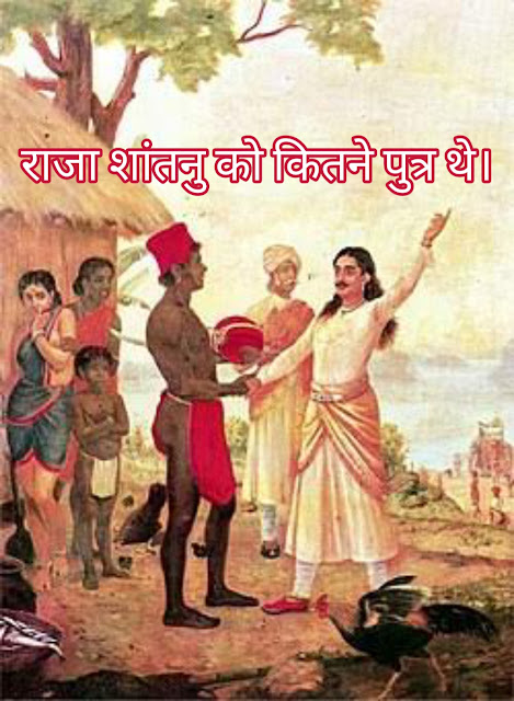 हस्तिनापुर के राजा शांतनु को कितने पुत्र थे। hastinapur ke raja ko kitne putra thhe