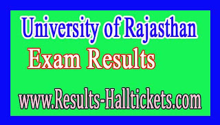 University of Rajasthan Add On Cert Course (Arts) in Beauty Culture 2016 Exam Results