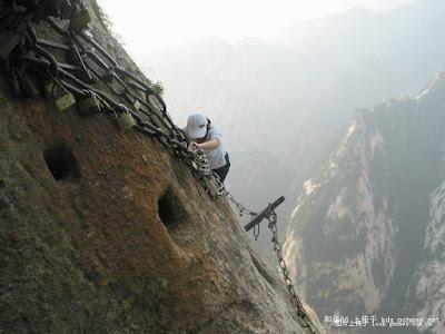 טיפוס על הר תלול
