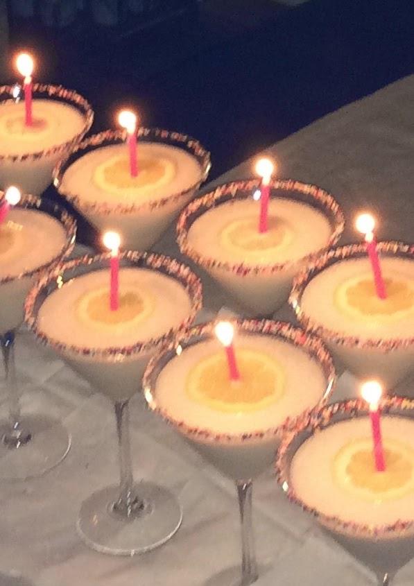 Birthday Cake Martinis 2 Oz Vodka Vanilla Or Whipped Flavor 15 Amaretto 1 White Chocolate Liquor Half Presentation