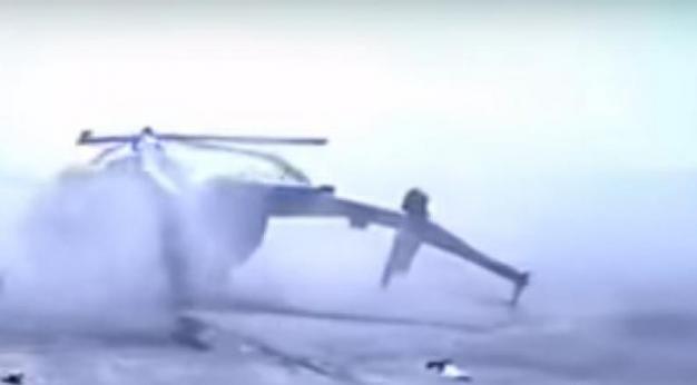 Η στιγμή που ένα ελικόπτερο πέφτει και συνθλίβεται πάνω σε κτίριο στη Ρωσία! Βίντεο