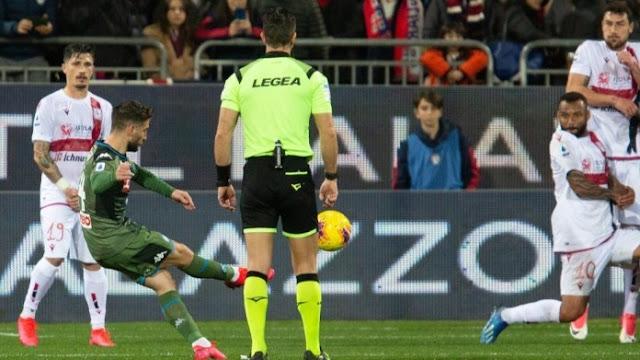 Video Cuplikan Gol: Cagliari 0-1 Napoli (Serie A)