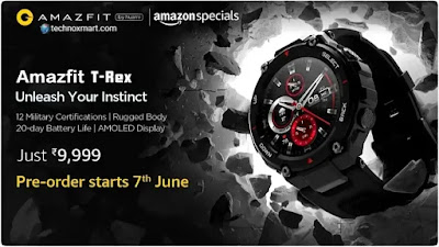 Amazfit T-Rex Price Unveiled In India, Pre-Order Is Said To Begin From June 7: Here Is Everything You Need To Know