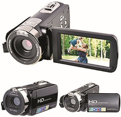 Kingear Camcorder: 2.7Inch HDV-312 Video Camera - Specs: 270°Rotation, 16X Digital Zoom, 24MP, 1920X1080 Resolution