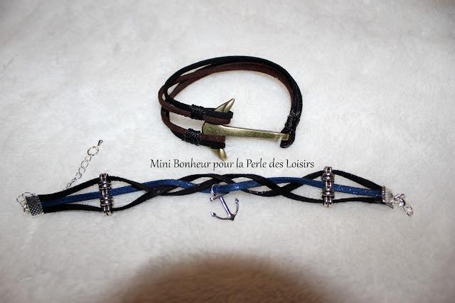 bracelet, DIY, tutoriel, ancre, mini bonheur, perle des loisirs