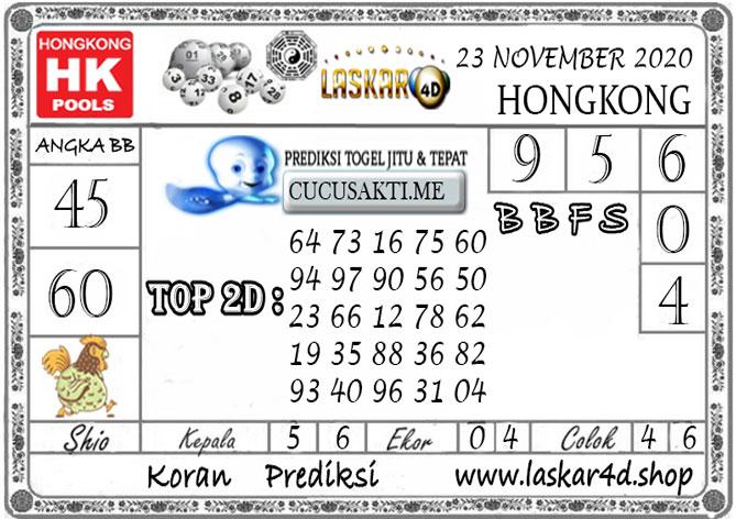 Prediksi Togel HONGKONG LASKAR4D 23 NOVEMBER 2020