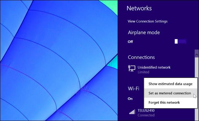 Cara Menghemat Kuota Internet Windows 8.1