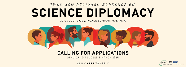 TWAS-ASM Workshop on SCIENCE DIPLOMACY | 20-24 July 2020