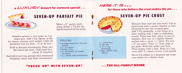 Inside a Vintage 7up 1/4 size recipe booklet on The Cedar Chest blog