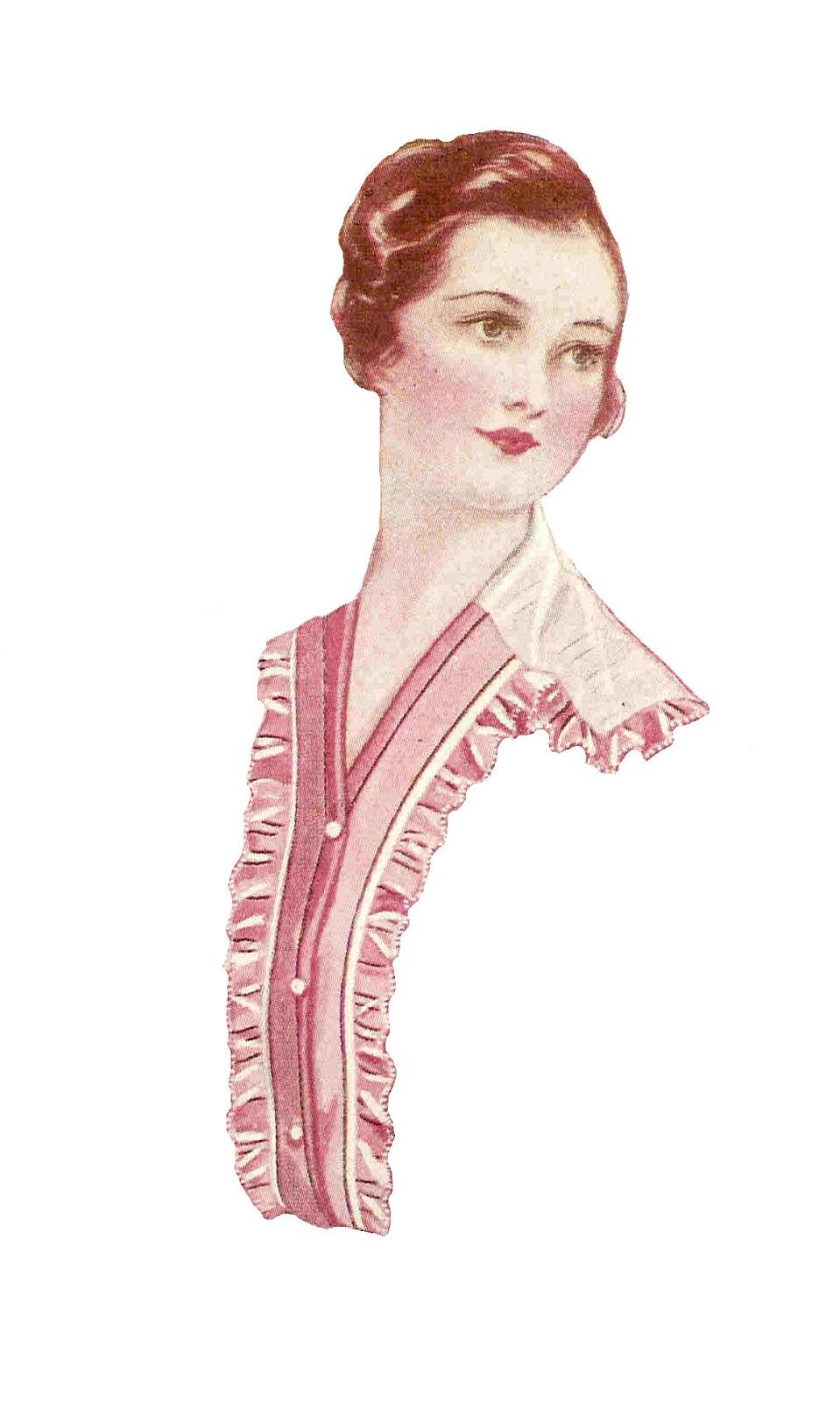 Free Fashion Clipart: Antique Images: Free Fashion Clip Art: 2 Vintage Women's