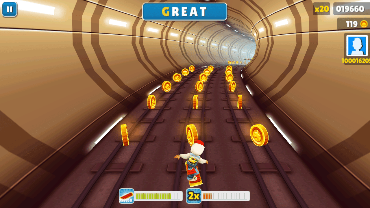 how to play subway surfers with arrow keys