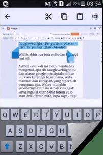 Cara Posting Artikel blog via Android