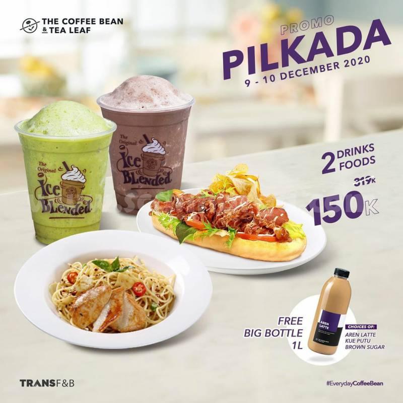 Coffee Bean Promo Pilkada - GRATIS minuman kemasan 1 Liter