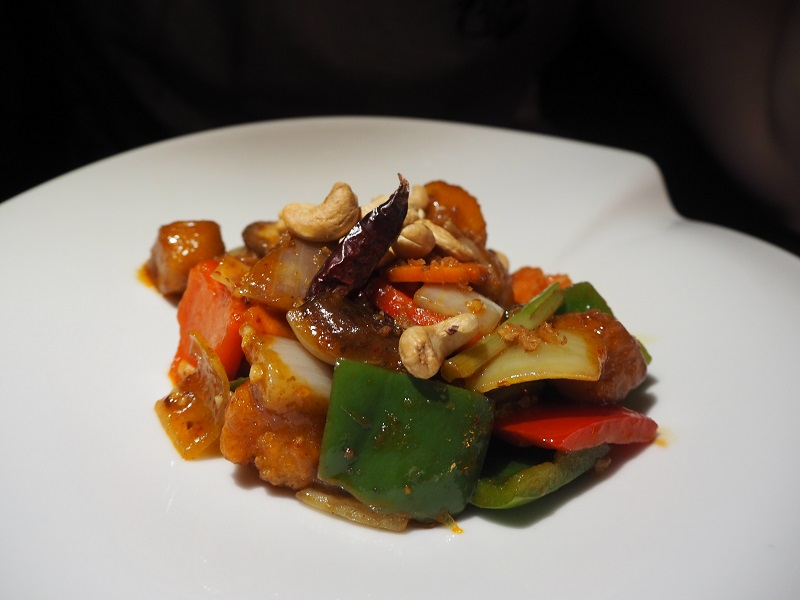 Chicken cashew dish at Chaophraya