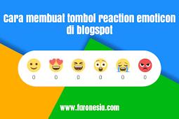 Cara membuat tombol reaction emoticon di blogspot