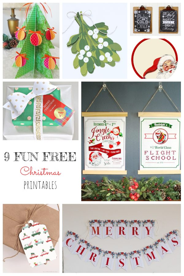 9 Fun Free Christmas Printables!