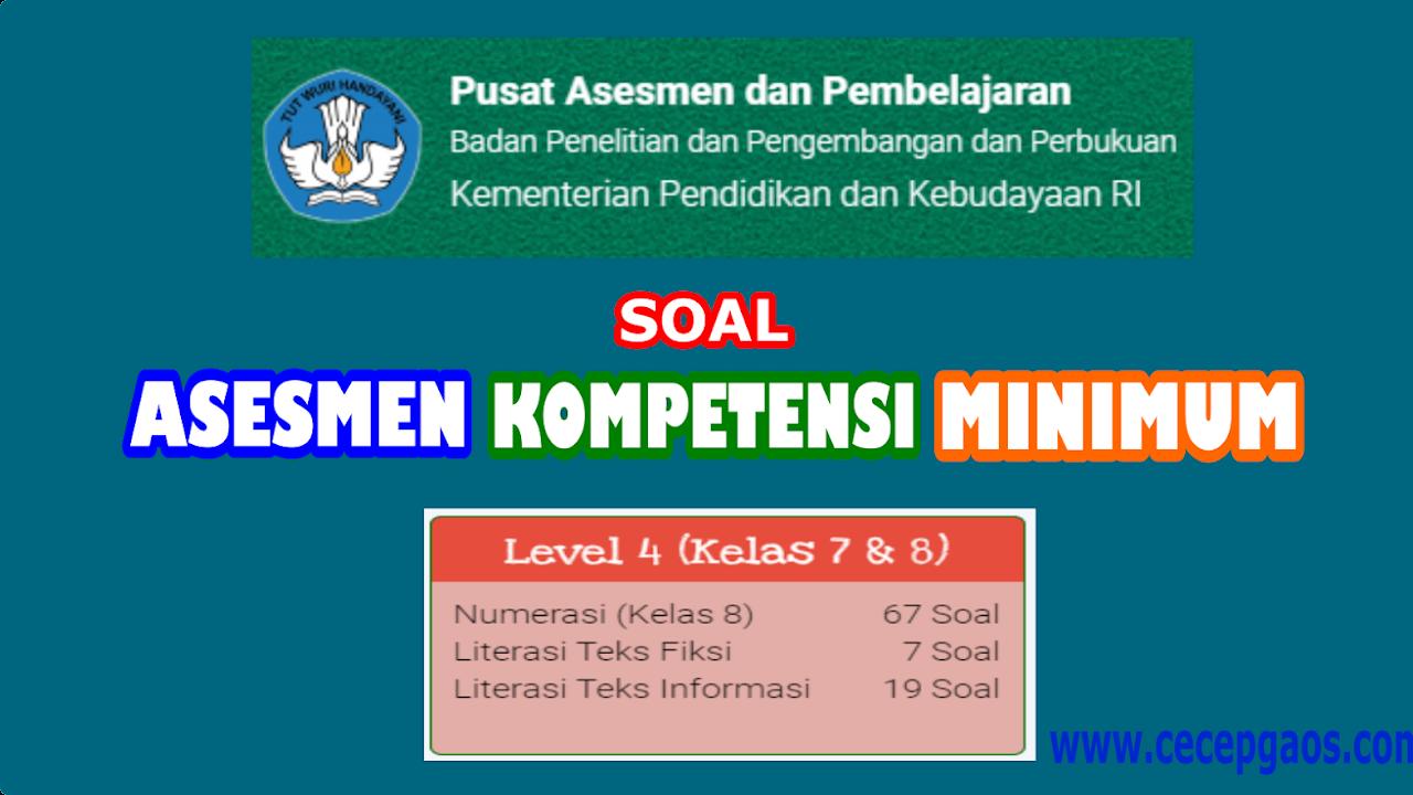 Contoh Soal Akm Online Level 4 Kelas 7 Dan 8 Smp Cecepgaos Com