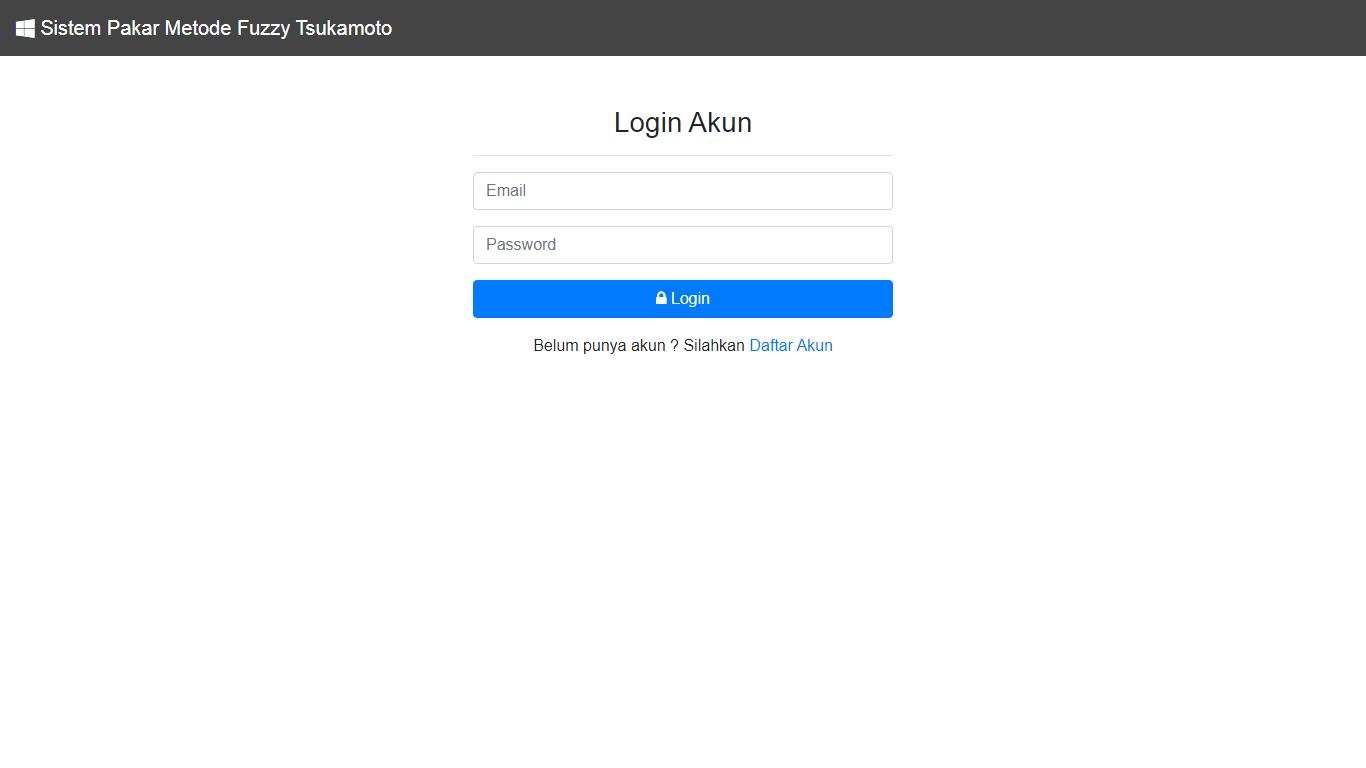 Aplikasi Sistem Pakar Berbasis Web Menggunakan Metode Fuzzy Tsukamoto - SourceCodeKu.com