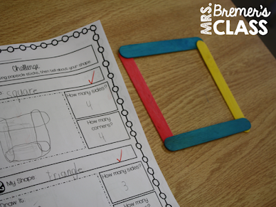 Geometry with 2D Shapes and their Attributes {freebie!} #math #geometry #2ndgrademath #1stgrademath