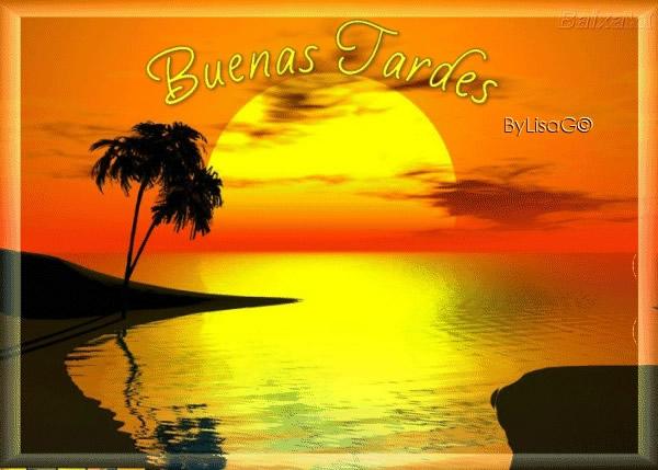puesta de sol Buenas Tardes