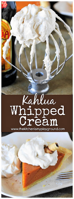 Kahlua Whipped Cream pin image