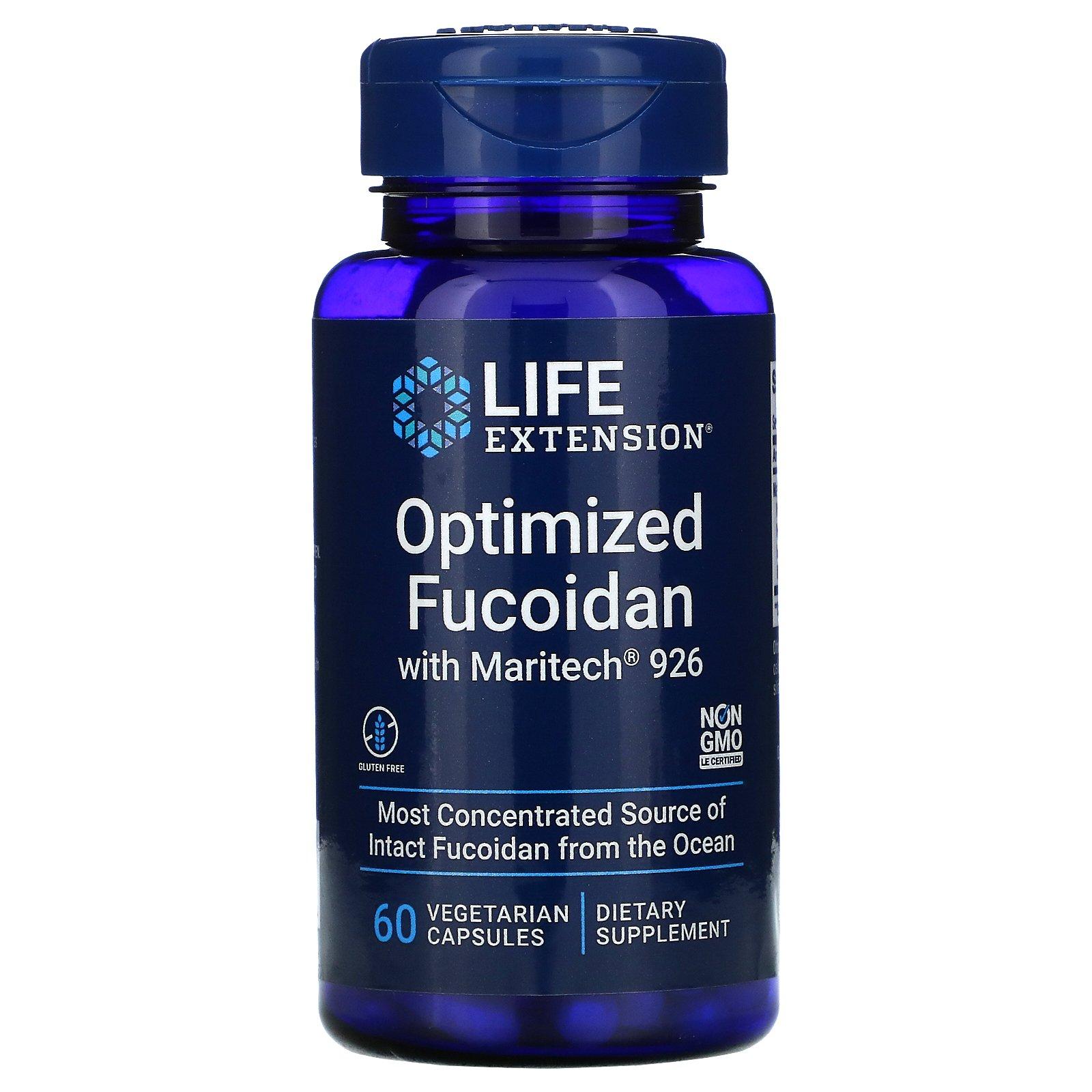 Life Extension, Оптимизированный фукоидан с Maritech 926, 60 растительных капсул