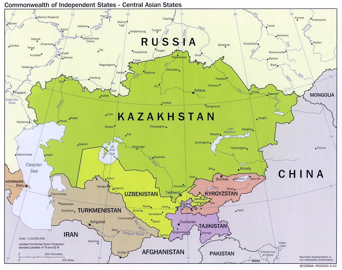 Asia Centrale Cartina Geografica.Coltrinariatlantegeostrategico Carta Asia Centrale