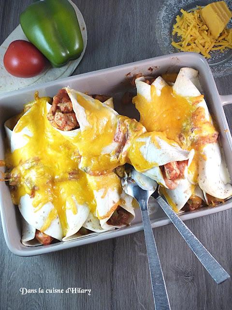 Enchiladas au poulet - Dans la cuisine d'Hilary