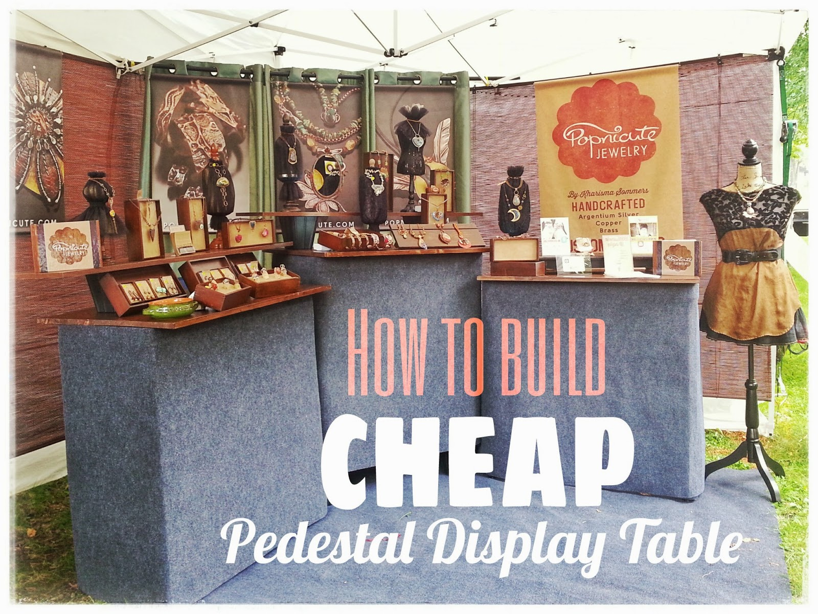 beautiful Jewellery Booth Ideas Part - 9: How to Build A Cheap Pedestal Table for Jewelry Booth in Art Shows
