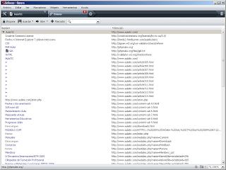 lista de enlaces con navegador Opera