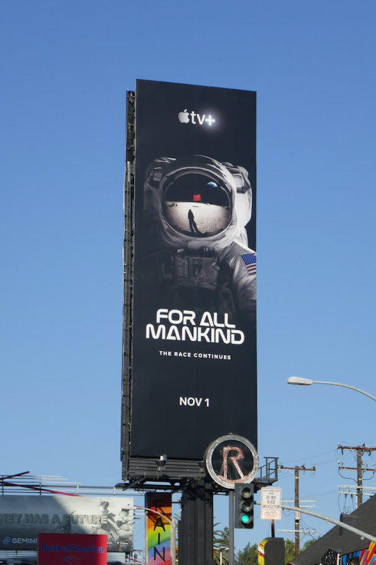 For All Mankind Apple TV series launch billboard