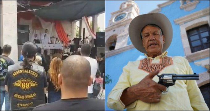 """VIDEO: """"Nomás 20 muertos diarios, no te hagas Pende… Diego Sinhue"""", dice """"Padre Pistolas"""" al Gobernador de Guanajuato"""