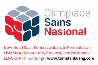 soal kunci jawaban osk geografi sma 2019 kabupaten kota; tomatalikuang.com