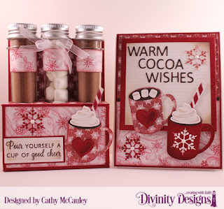 Stamp/Die Duos: Perk Up, Cocoa & Coffee, Paper Collection: Snowflake Season, Other: Test Tubes Large, Custom Dies: Test Tube Trios, Letterboard, Pierced Rectangles