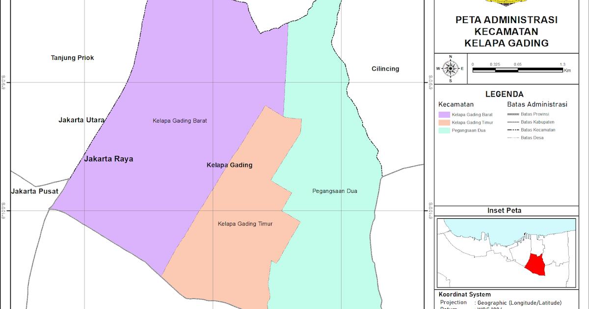 Peta Administrasi Kecamatan Kelapa Gading, Kota Jakarta ...