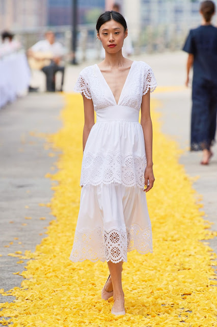 White eyelet dress for spring and summer