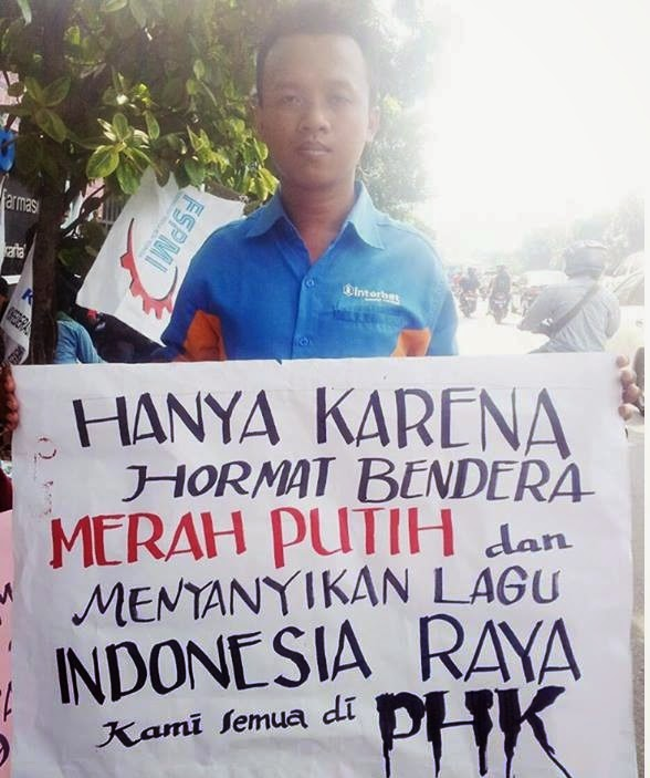 Aksi Demo Buruh PT Interbat