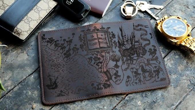 Genial cubierta de pasaportes del mapa de los merodeadores que ademas es personalizado