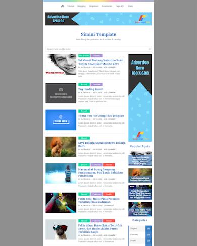 Simini-v1 Template Fastest and SEO Friendly Blogger Template