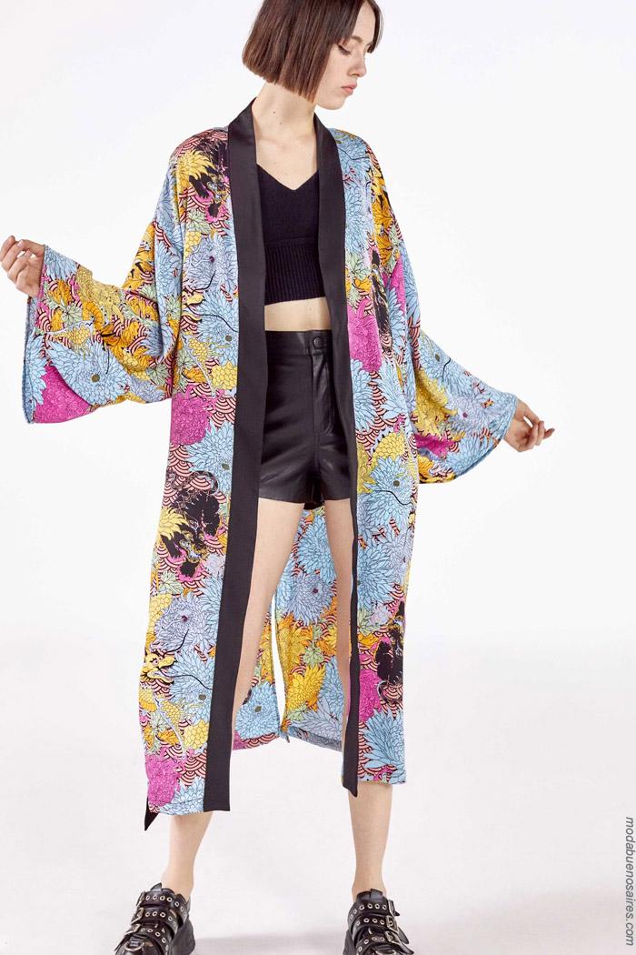 Kimonos primavera verano 2020 moda mujer juvenil.