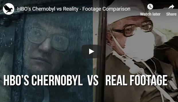 Comparação da série Chernobyl com imagens reais
