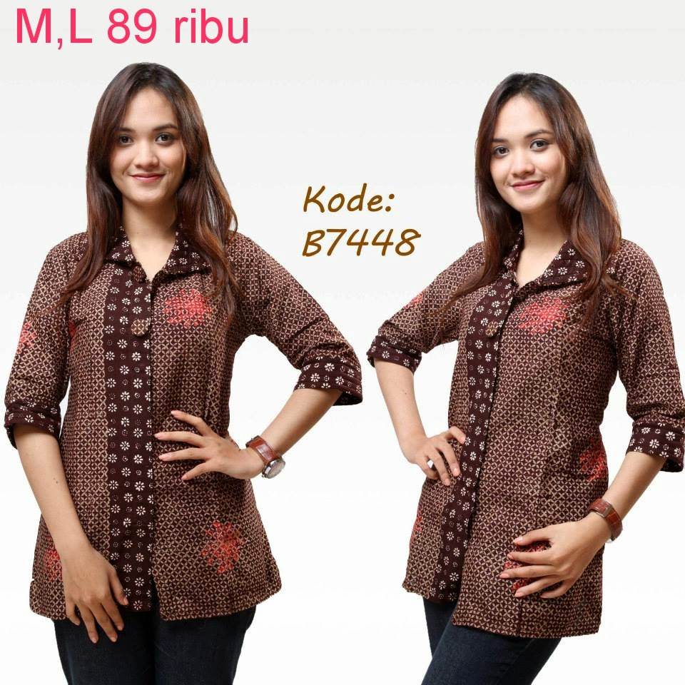 Contoh Gambar Baju Batik Modern: Contoh Model Baju Batik