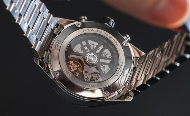 Réplique Montre TAG Heuer Carrera Automatique Chronographe GMT Squelettisé Acier Inoxydable 45mm